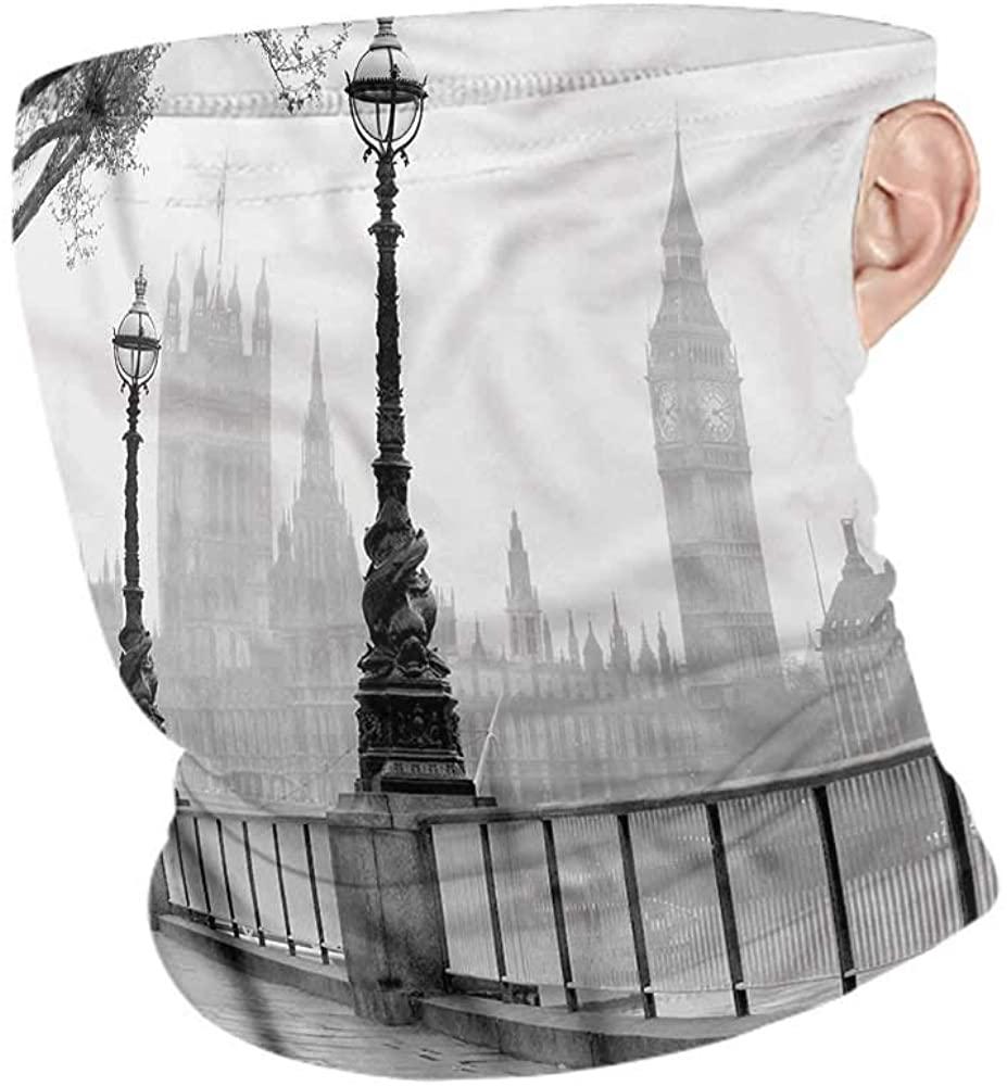 Bandana London,Thames River Lanterns Rain Breathable face Covers