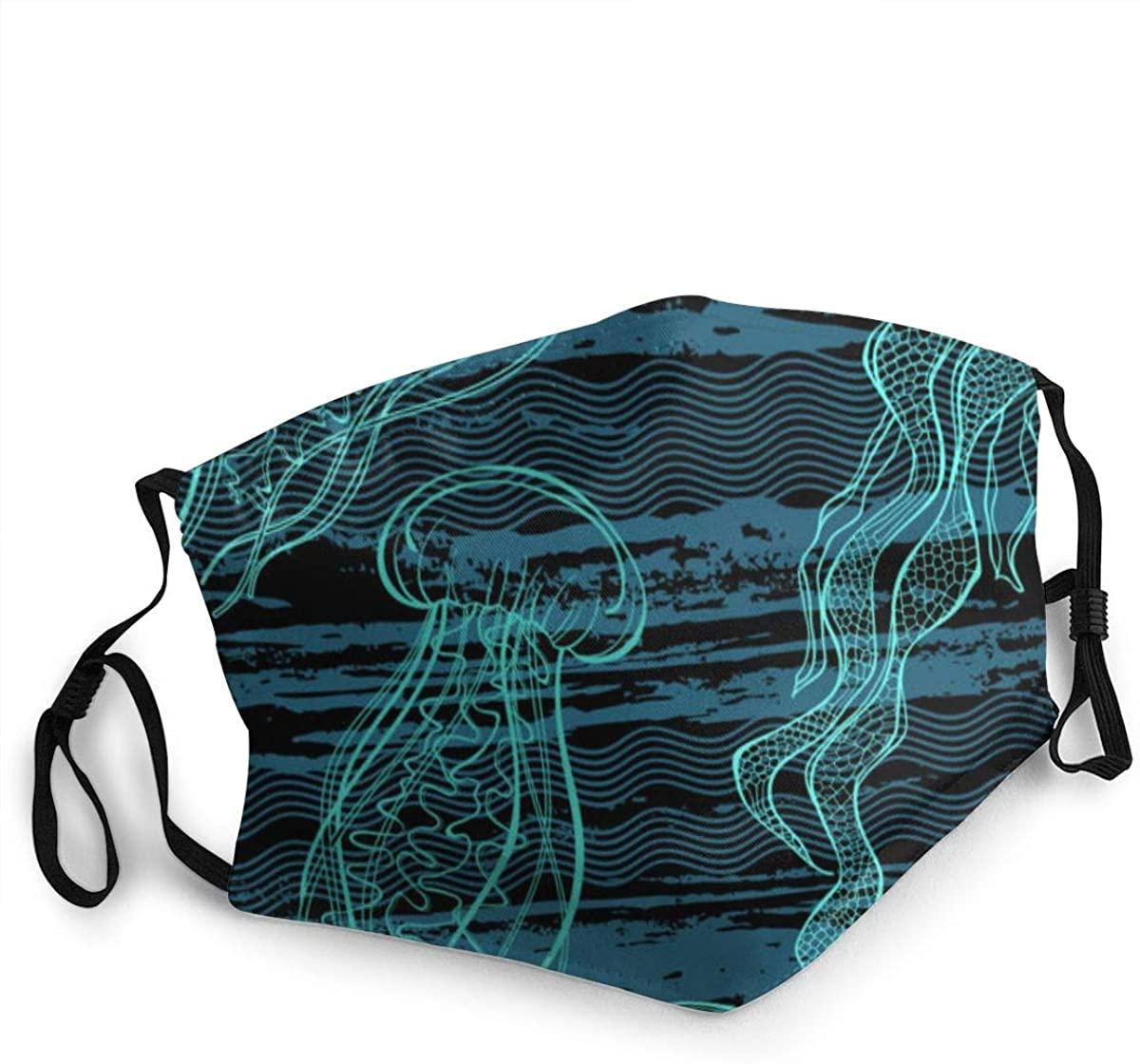 Fashion Protective Face Masks, Jellyfish Unisex Dust Mouth Masks, Washable, Reusable Masks