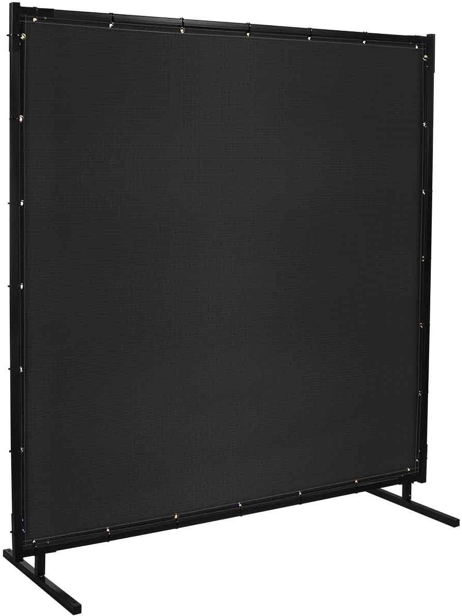 Steiner 536HD-6X8 Protect-O-Screen HD Welding Screen with 13-Ounce Vinyl Laminated Polyester Curtain, Black, 6 x 8