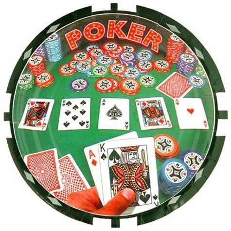 Poker Lunch Plates, 8ct