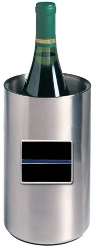 1pc, Pewter Thin Blue Line Wine Chiller
