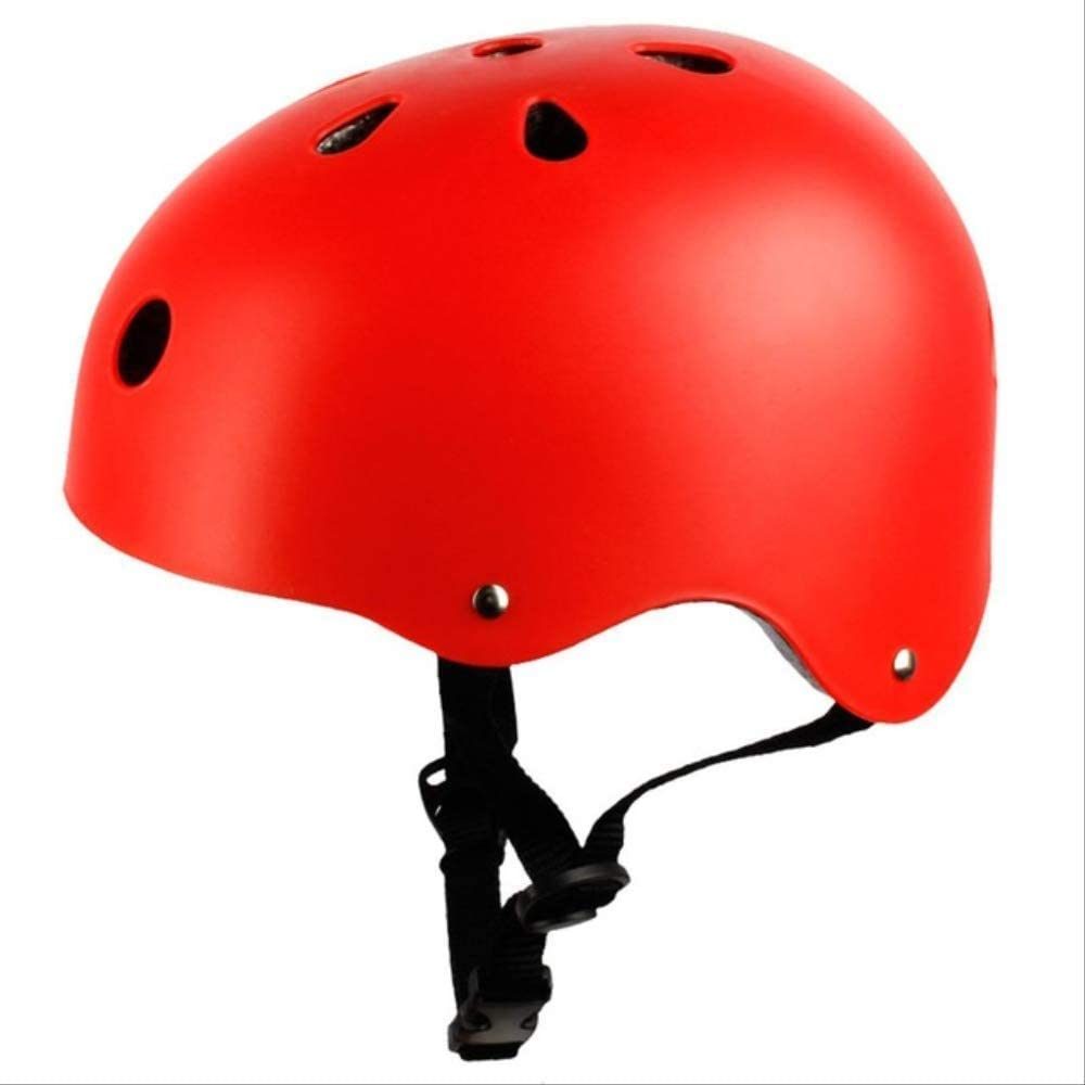 Vincent Children Adults Bicycle Helmet Cycling Roller Skateboard Safety Helmet Head Protectors Lightweight Breathable Bike Riding Helmet M red