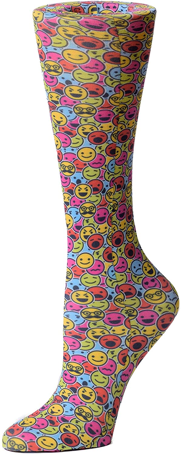 Cutieful Therapeutic Graduated 8-15 mmHg Compression Socks - Smiley Faces
