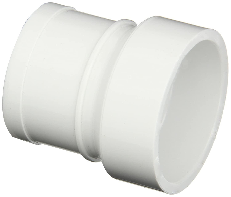 Spears P119 Series PVC DWV Pipe Fitting, No-Hub Adapter, 1-1/2