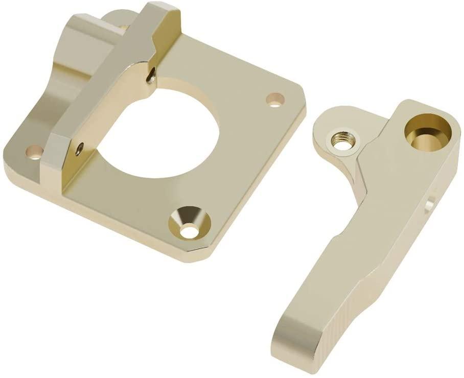 Nologo WYX-TONGBUDAI, 1set 3D Printer Parts MK8 Extruder Upgrade Aluminum Block Bowden extruder 1.75mm Filament Reprap Extrusion for Ender 3 CR10 CR10S PRO (Size : Champagne Right)