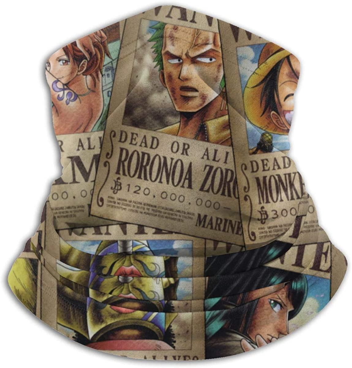 One Piece Anime Cool Men and Women Windproof Face Mask Scarf Black Scarf Headscarf Balaclava