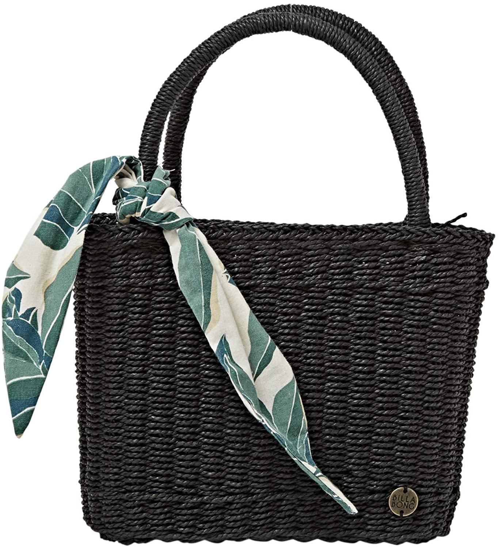 Billabong Women's Rebel Heart Small Straw Bag, Off Black, One