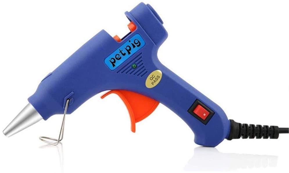 AntiGnor Hot Glue Gun High Temp Hot Melt 20W Glue Gun DIY Tool Power Tool Small Craft Projects (Color : A)