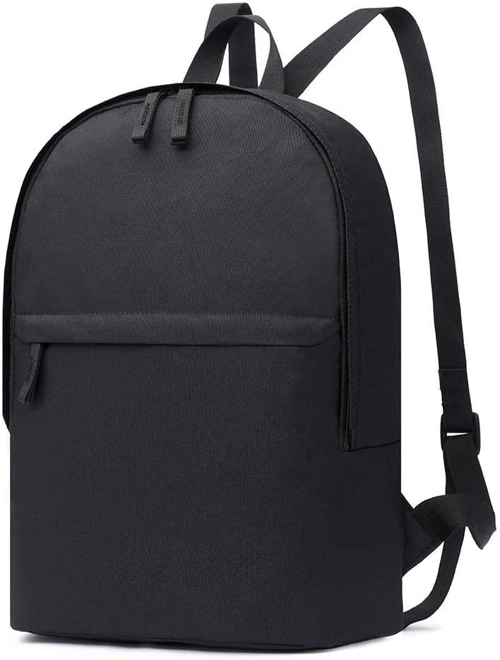 HaloVa Backpack, Trendy Shoulders Bag, Lightweight Daypack for Boys Girls with Headphone Jack, Large, Black