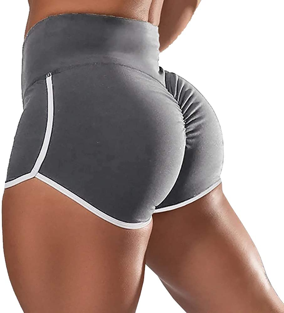 Joupbjw Women's Scrunch Workout Shorts Middle Waist Butt Lifting Yoga Pants Sports Booty Short Leggings