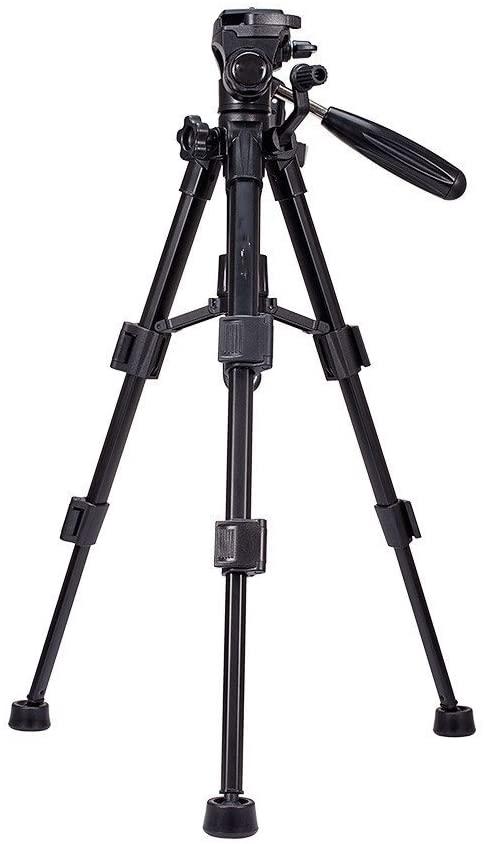 Portable Aluminum SLR Camera Tripod, Outdoor Travel Tripod, PTZ Panoramic Shooting Bracket,Black