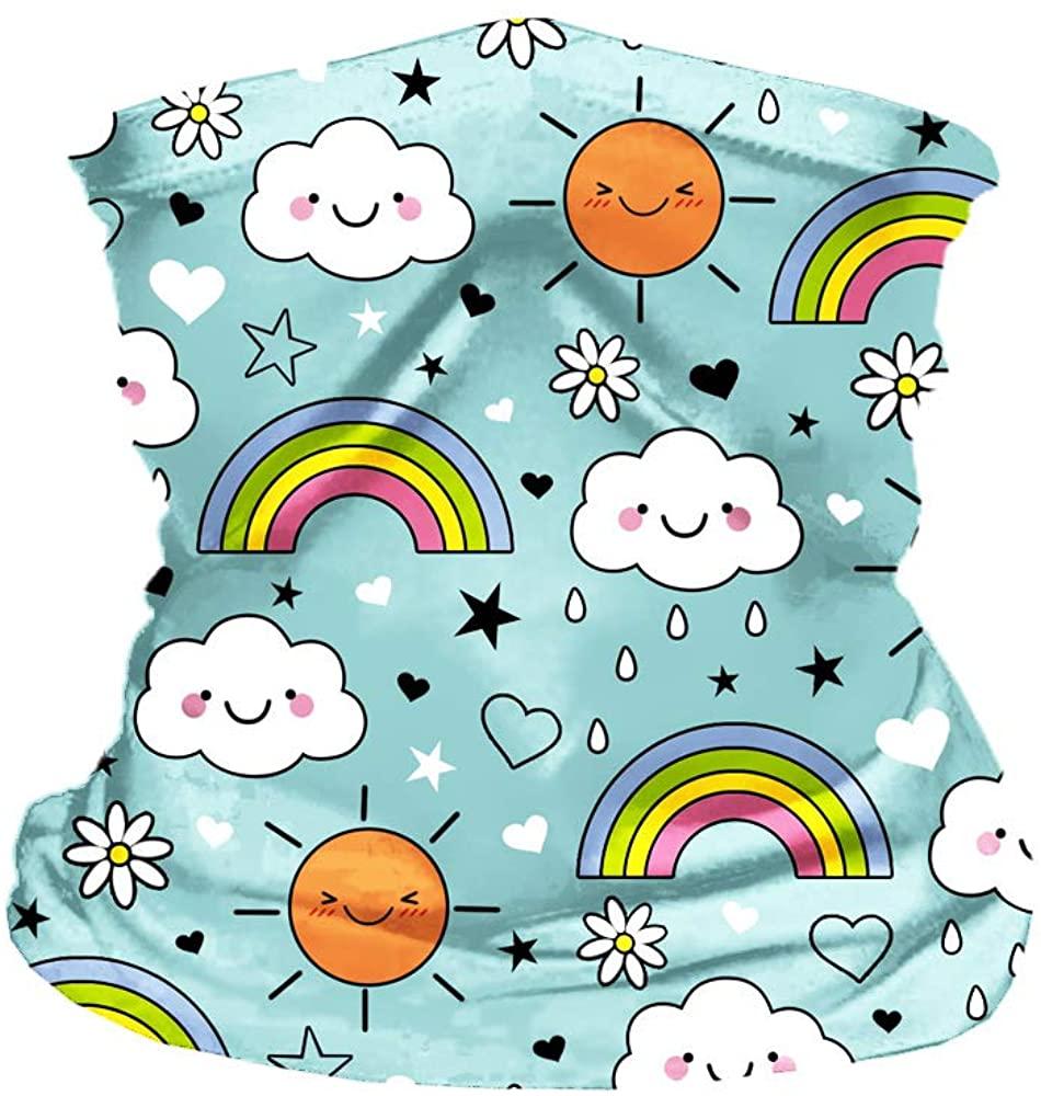 Beautisun Kids Cute Neck Gaiter UV Protection Rave Bandana Headwrap Balaclava for Outdoor Activities