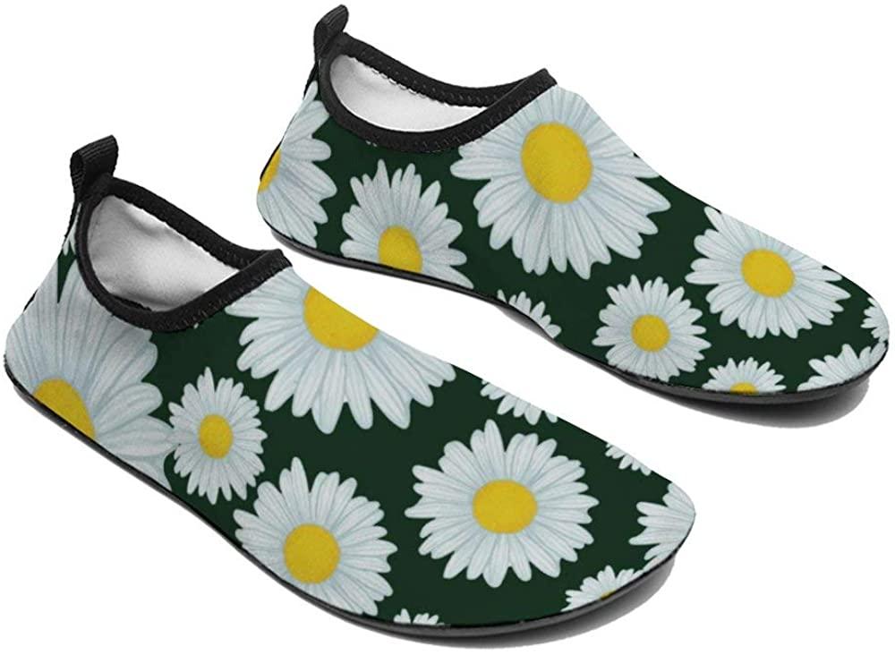 TAMENGI Womens and Mens Kids Water Shoes, Daisy Quick-Dry Barefoot Shoes, Aqua Socks for Beach Swim Surf Yoga