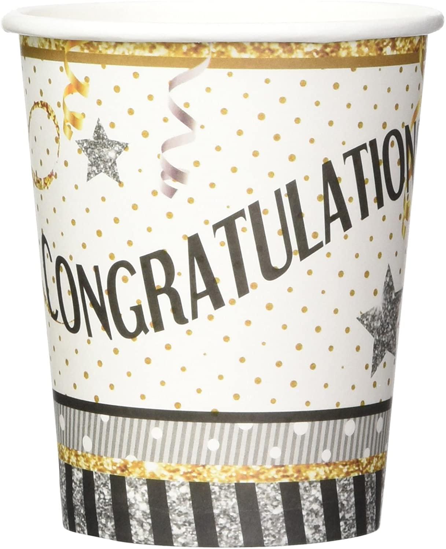 Forum Novelties x79903 Congratulations Cups 9Oz, Multi Color, One Size