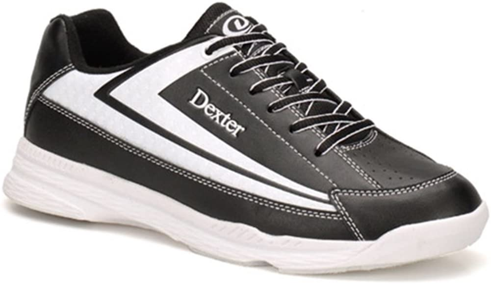 Dexter Jack II Wide Bowling Shoes, Black/White, Size 11.5