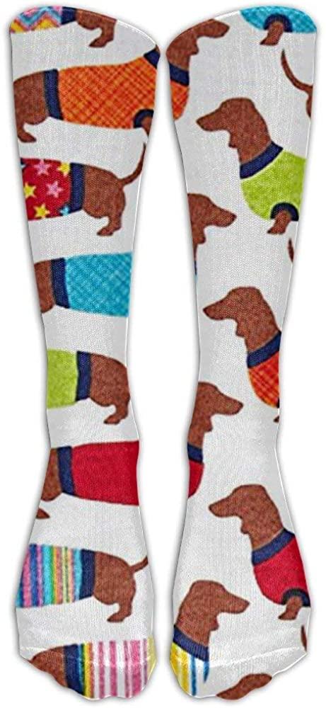 Dachshunds Knee High Graduated Compression Socks for Women and Men - Best Medical, Nursing, Travel & Flight Socks - Running & Fitness