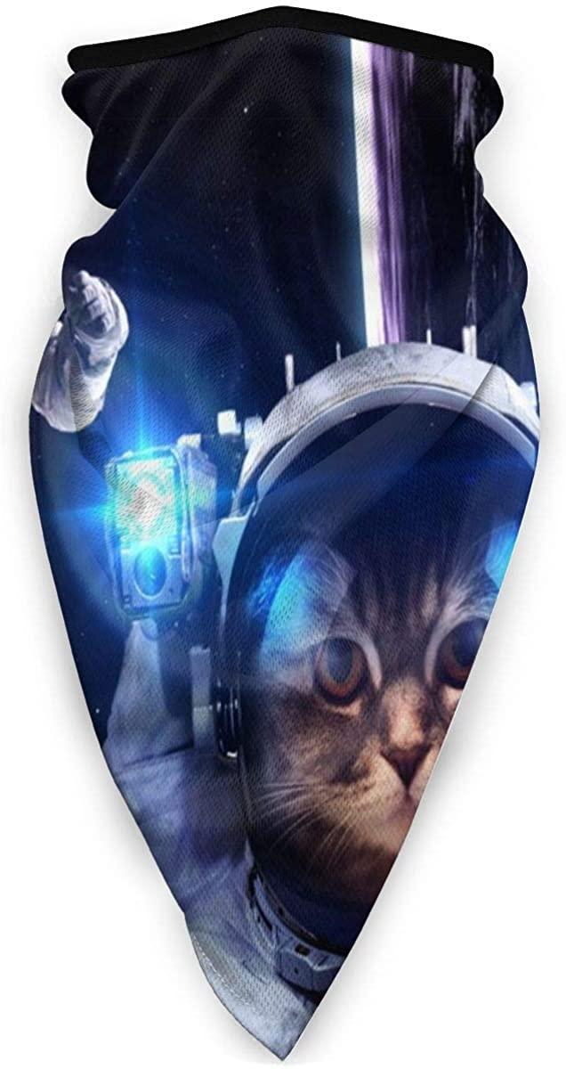 Astronaut Cat Half Face Mask Balaclava Neck Gaiters UV Sun Masks Scarf for Motorcycling