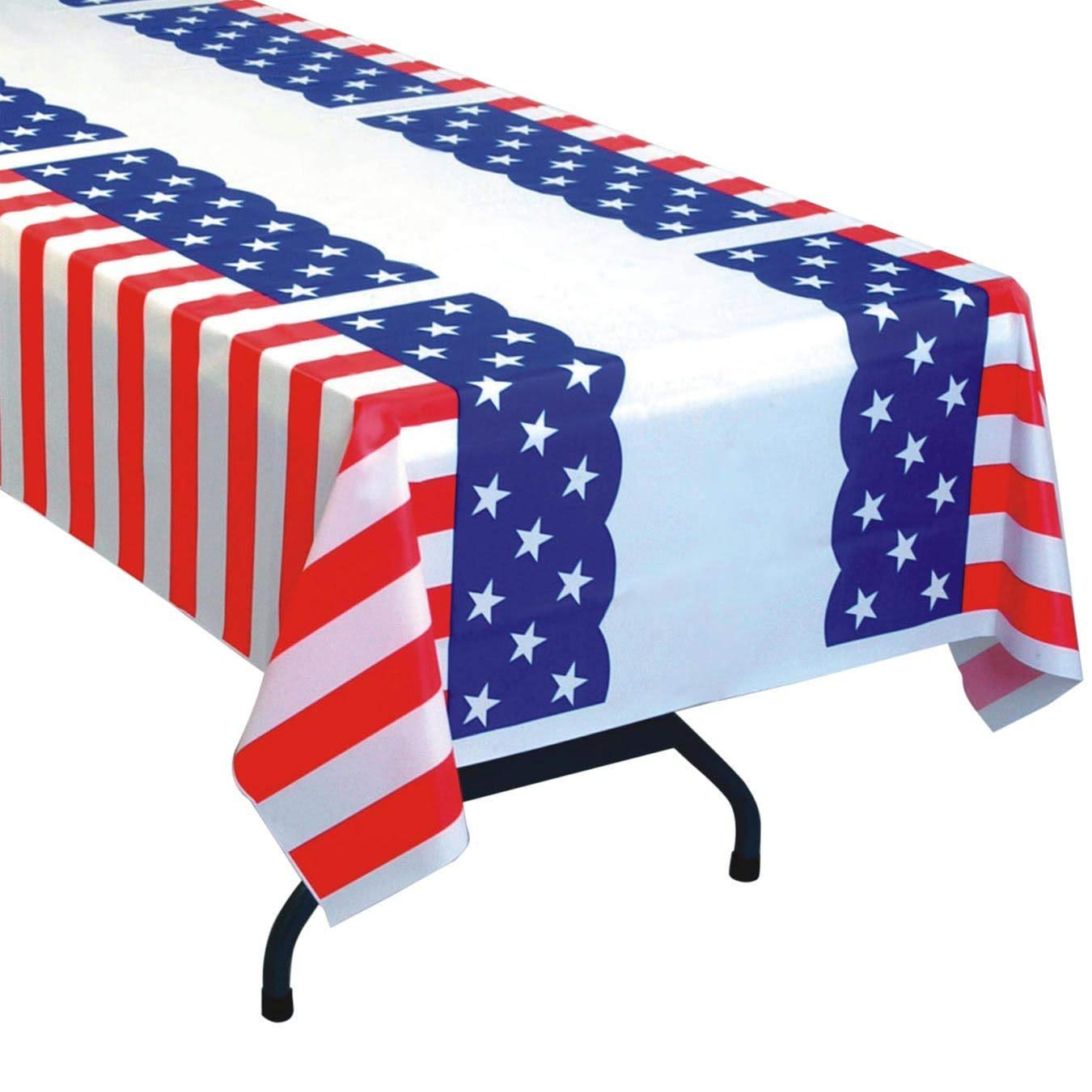 S&S Worldwide Patriotic Pleated Table Cover (Pack of 6)