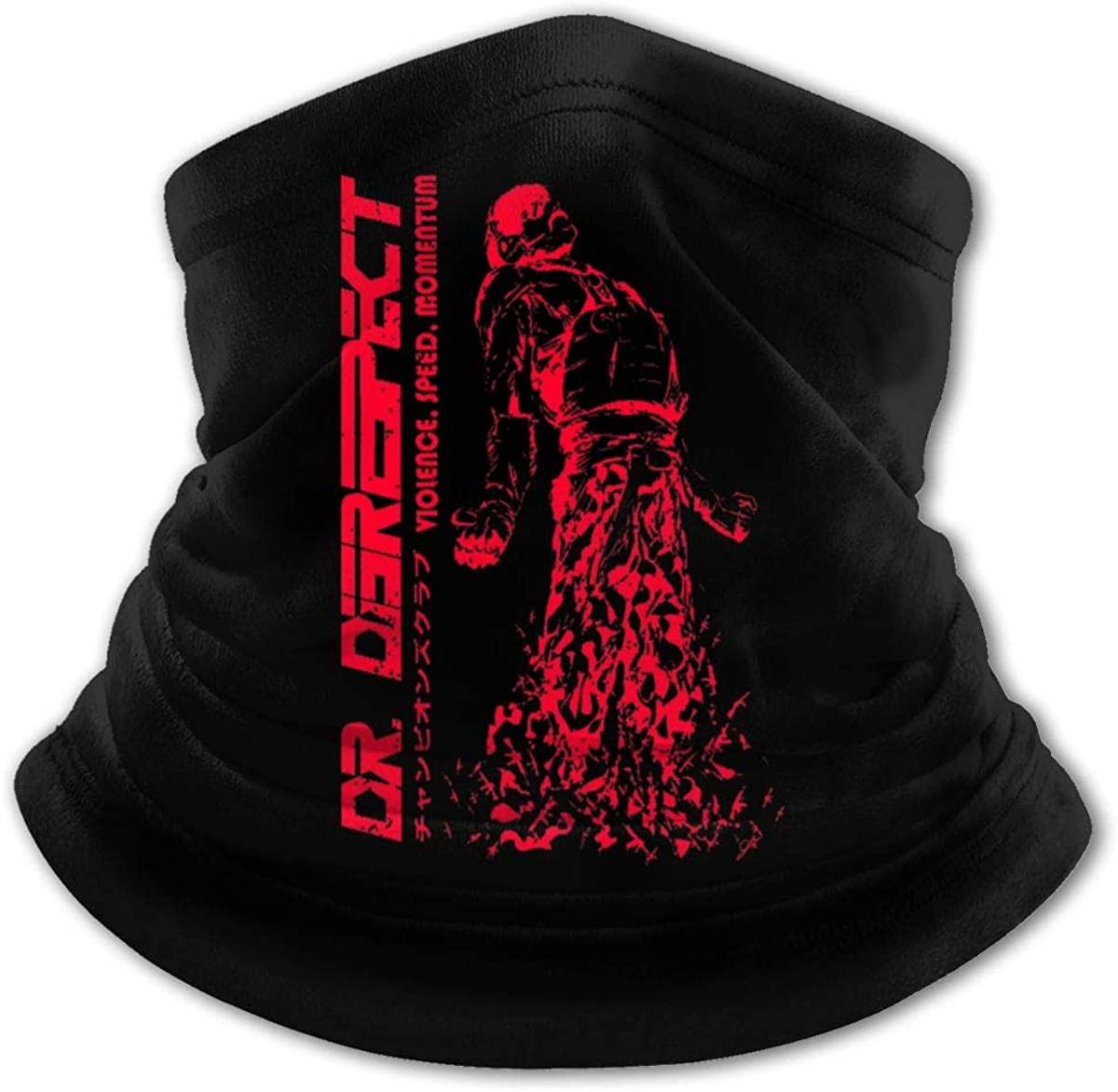 Dr Disrespect Big Boys Girls Breath Seamless Face Mask Student Mouth Cover Headwear Bandana for School,Sports Black