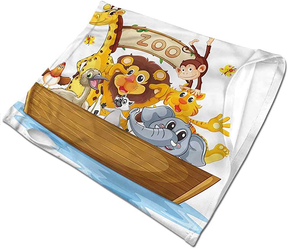 Headband Kids,Boat of Cute Cartoon Animals Sunscreen Bandana