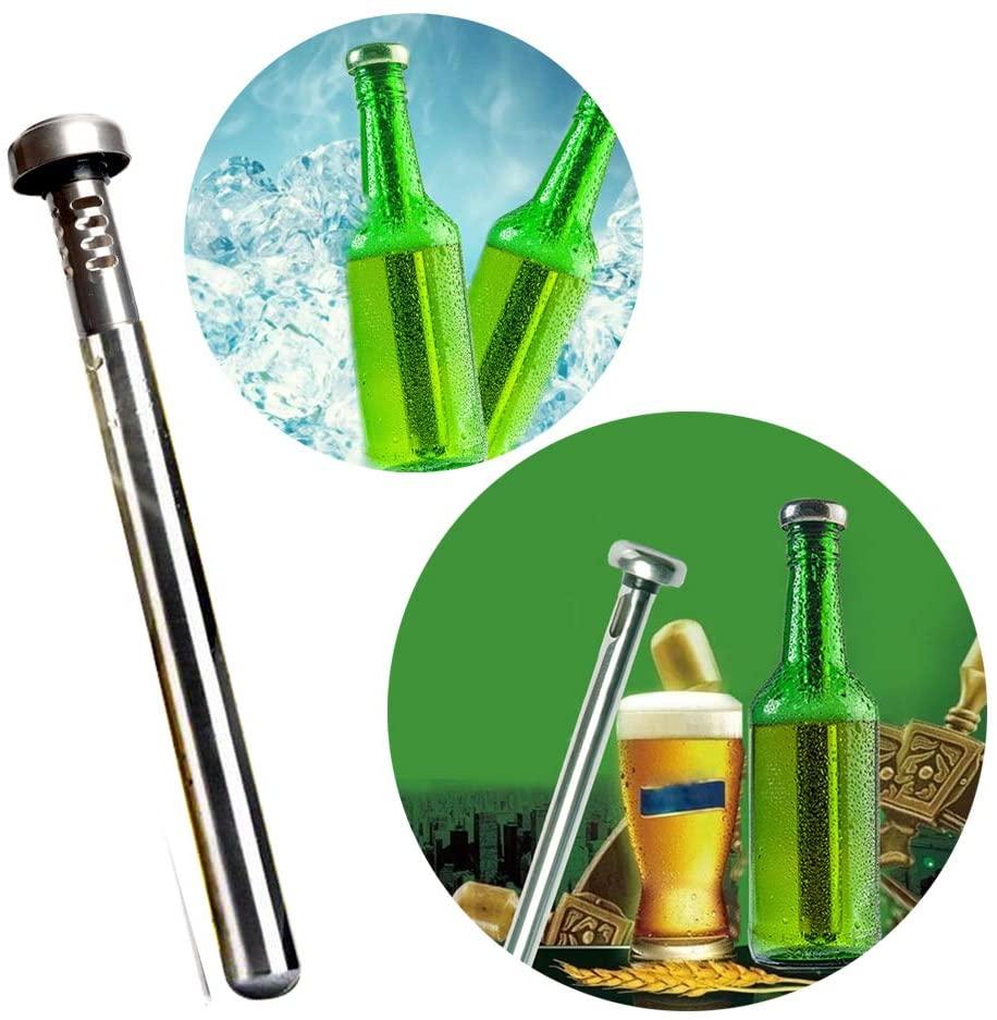 Stainless Steel Beer Chiller Stick Beverage Cooler Cooling Sticks Beer Chiller Sticks for Bottles Gifts for Men