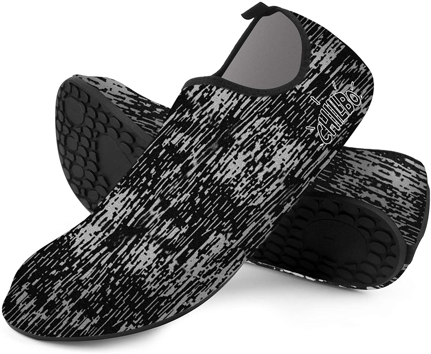 Chillbo Water Shoes - Beach Shoes for Men and Womens Water Shoes 7 Vibrant Styles Swimming Shoes & Water Shoes for Women for Beach Swim Yoga Exercise (M 8-9 Men / 9-10.5 Women, Static Camo)