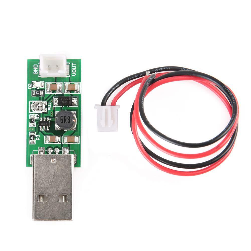 Boost Converter Module, Keenso Mini 7W USB DC 5V to 6V 9V 12V 15V Adjustable Output Voltage Step-up Board DC-DC Boost Converter