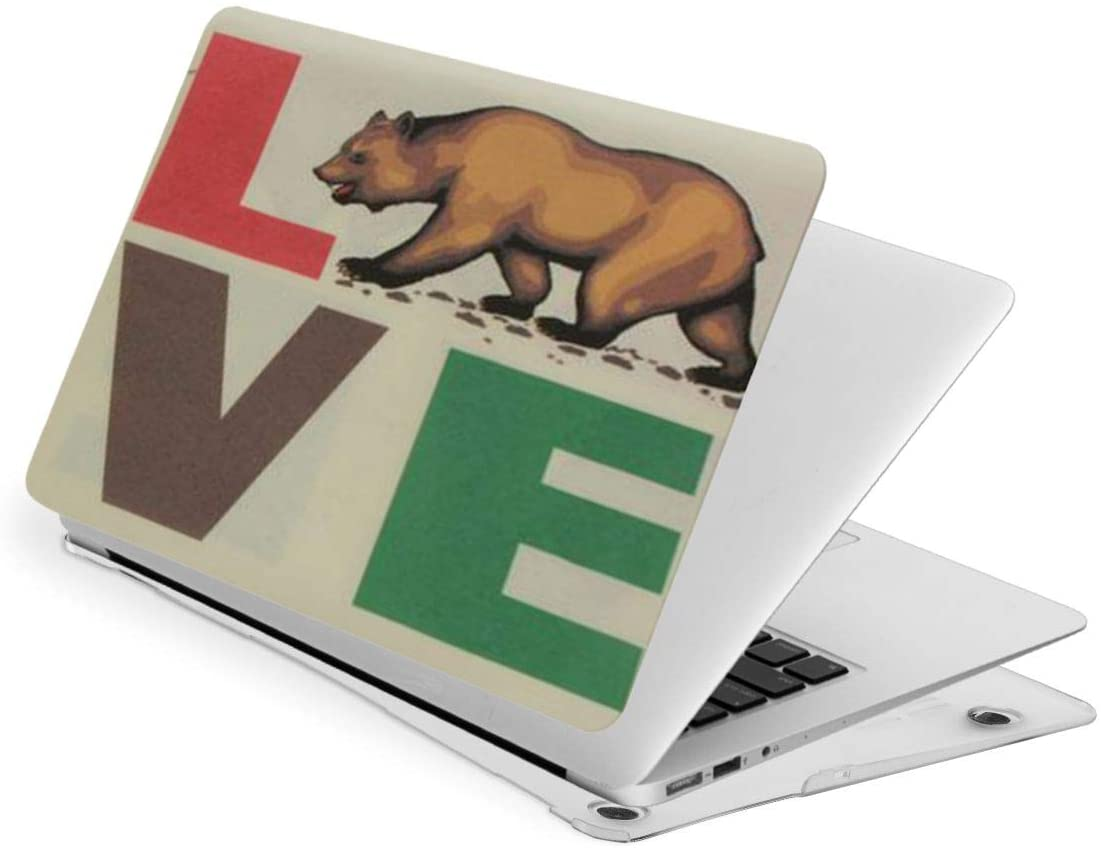 Laptop Case for MacBook California Republic Brown Bear Laptop Computer Hard Shell Cases Cover (New Air13 / Air13 / Pro13 / Pro15)
