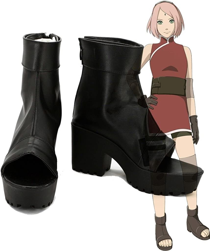 Naruto Anime The Last Haruno Sakura Cosplay Shoes Boots Custom Made high Heel
