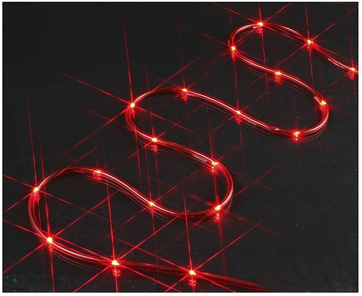 Holiday Living Rope Light Red Lights 18 feet 72