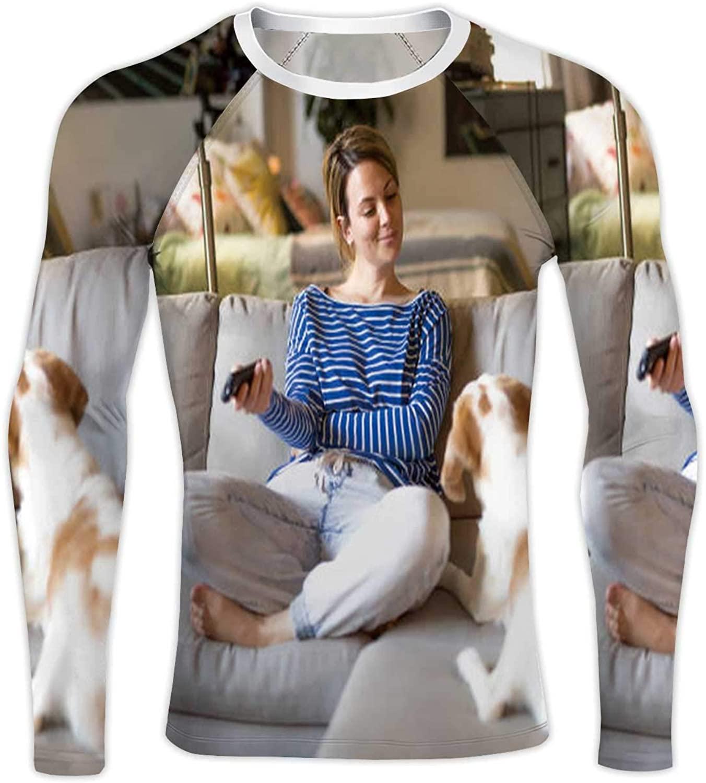 Poodle Dog Colorful ing France,Compression Baselayer Tops Long Sleeve T-Shirts Belarus S