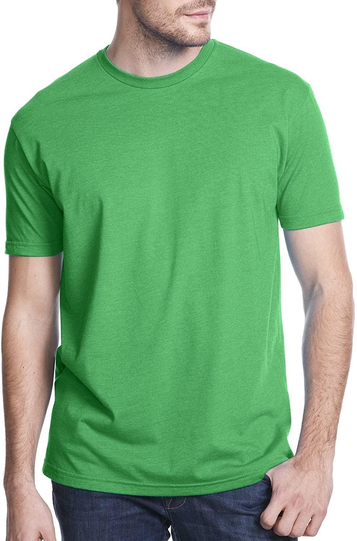 Next Level Apparel Men's CVC Crewneck Jersey T-Shirt, Kelly Green, X-Large