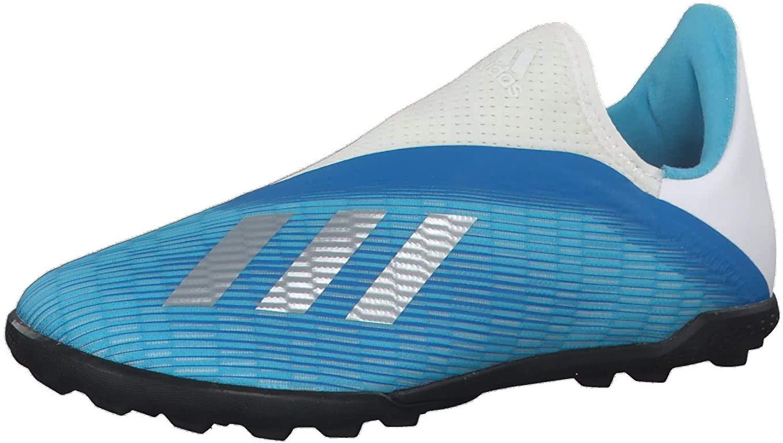 adidas Boys Soccer Shoes X 19.3 Youth Turf Football Boots Laceless (EU 37 1/3 - UK 4.5 - US 5)