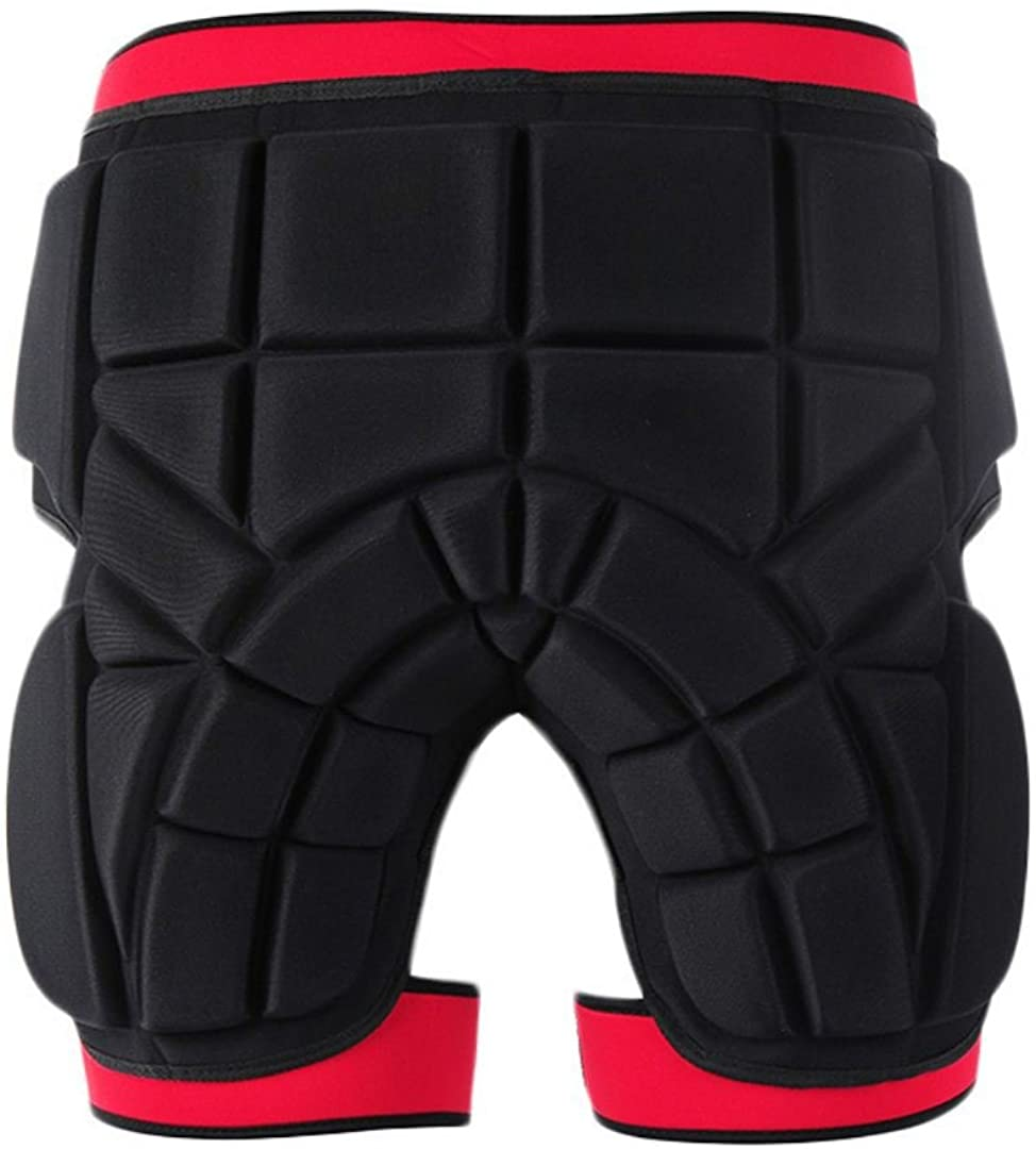 SULAITE 3D Protection Hip Padded Short Pants Thickening Butt and Tailbone Protector for Ski Skiing Skating Snowboard Cycling
