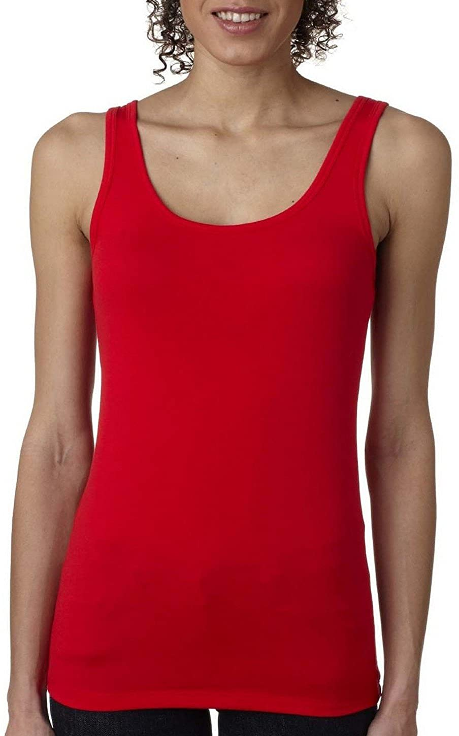 Next Level 3533 Jersey Tank Top Red Small