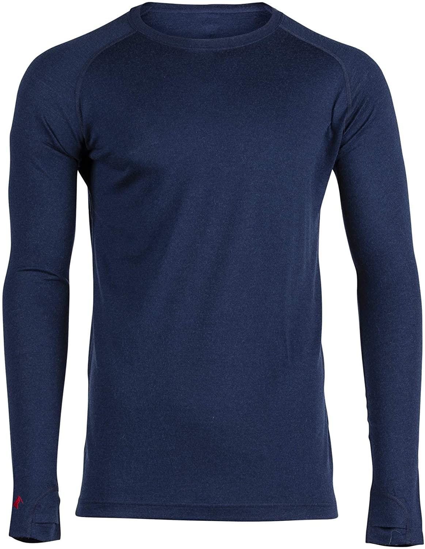 Ridge Merino Men's Aspect Midweight Merino Wool Base Layer Long Sleeve Shirt