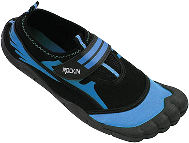 Rockin Footwear Womens Aqua Foot Water Shoes LF2 Blue 11