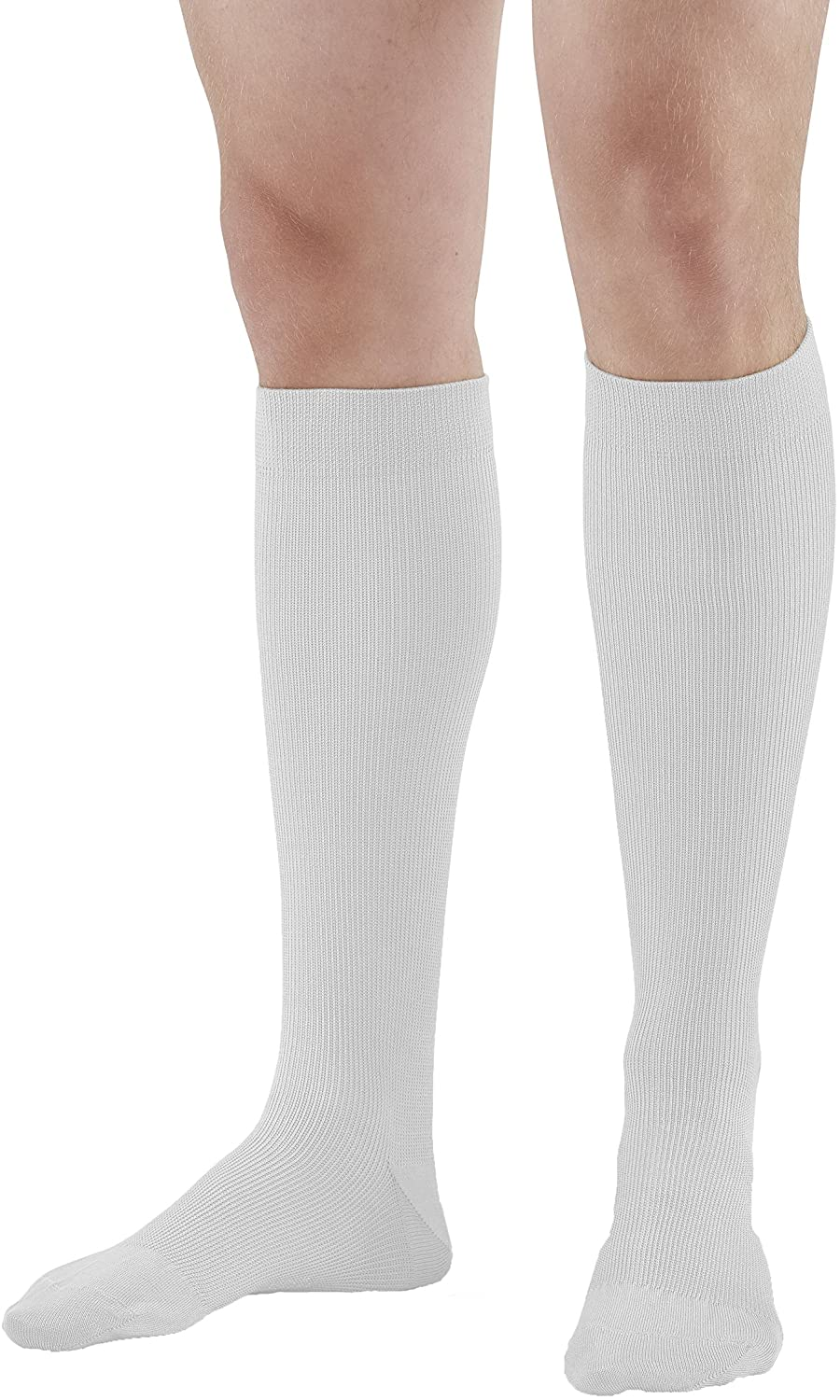 Ames Walker AW Style 111 Cotton Firm 20 30mmHg Knee High Socks White Large