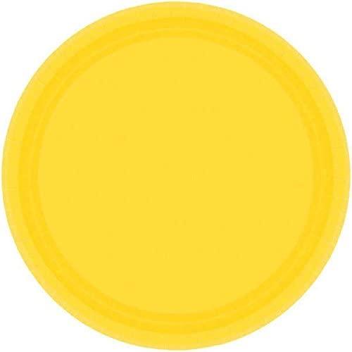 Sunshine Yellow Round Paper Plates   7