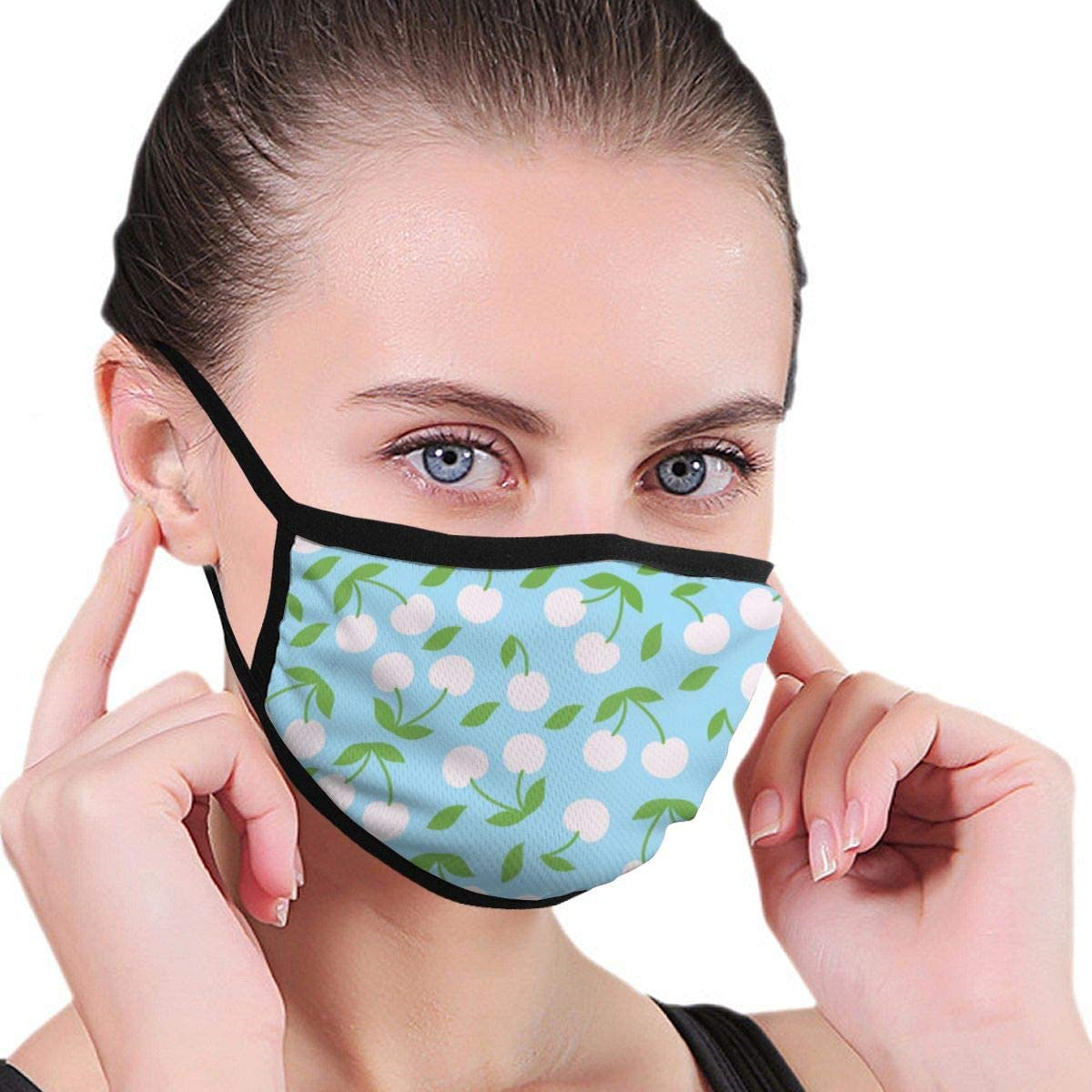 Anti Dust Breathable Face Mouth Mask Cherry Washable Face Mask for Cycling Camping Travel