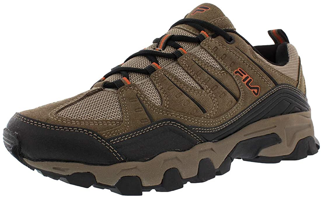 Fila Mens Outdoor Hiking Trail Running Athletic Shoes Brown/Orange (US 9.5)