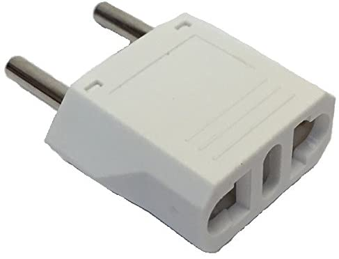 Ckitze Round White USA to Europe/Asia/Africa Travel Power Plug Adapter