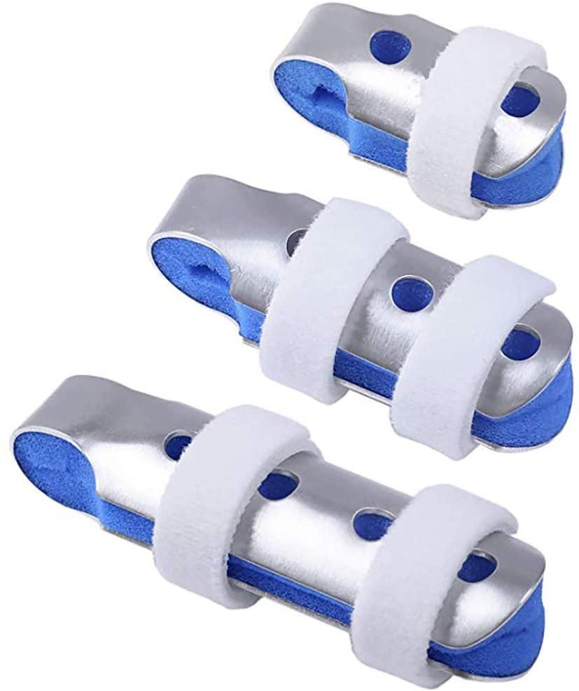 MILEKL Finger Splints, Trigger Finger Brace with Soft Foam Interior Loop Straps and Protective Ventilation Holes (3 Size Pack)