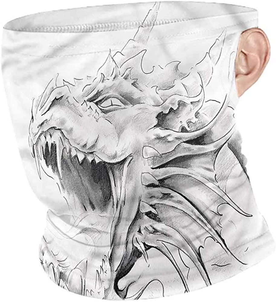Headwear Dragon,Medieval Myth Sketch Unisex Anti-Dust Washable