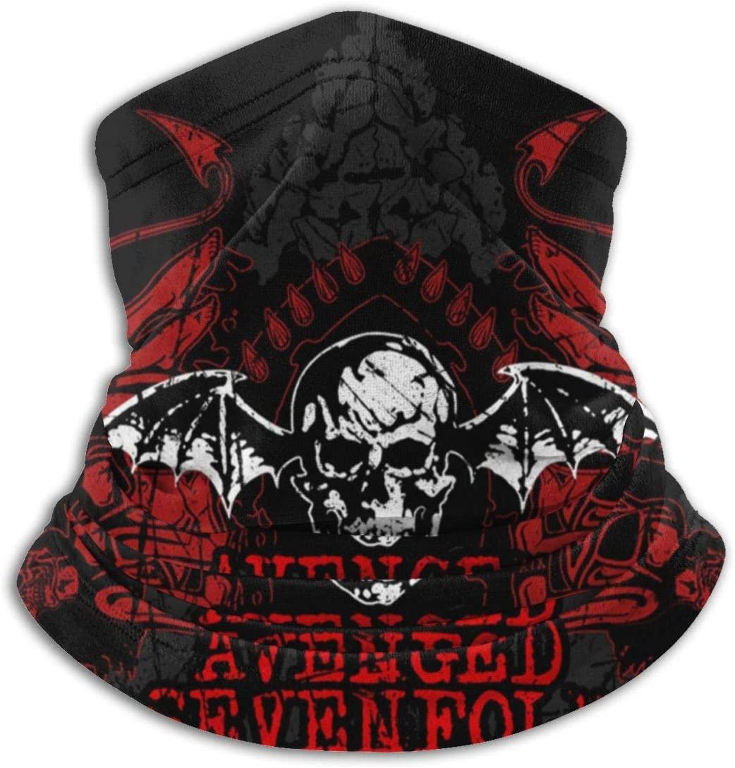Avenged Sevenfold Mens Womens Face Clothing Neck Gaiter Non Slip Light Breathable for Sun Wind Dust Black