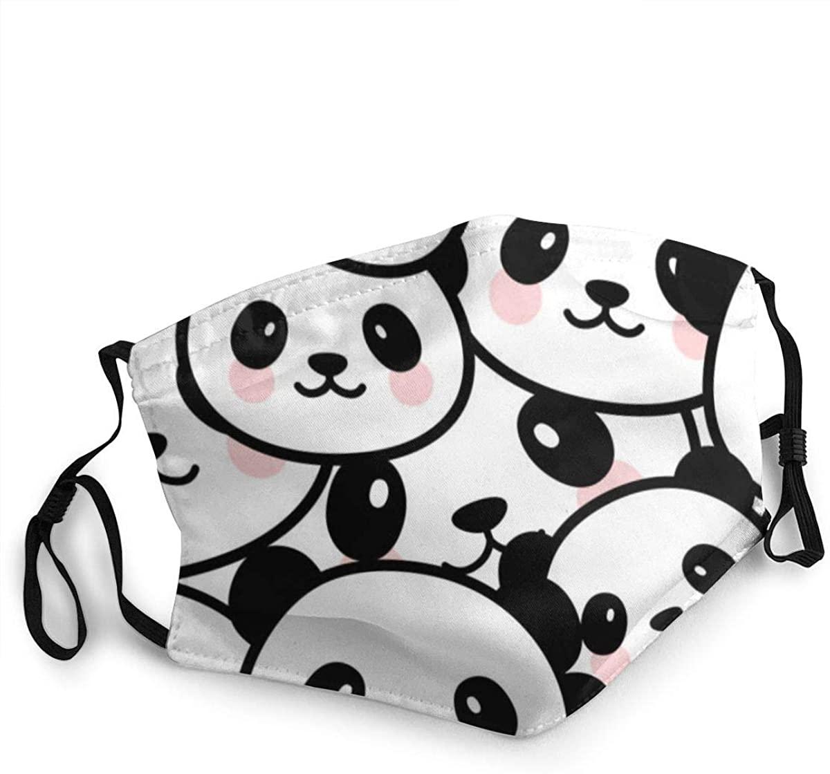 Anti-dust Mouth Face Mask Panda 2-Layer Unisex Reusable Fashion Washable Cover