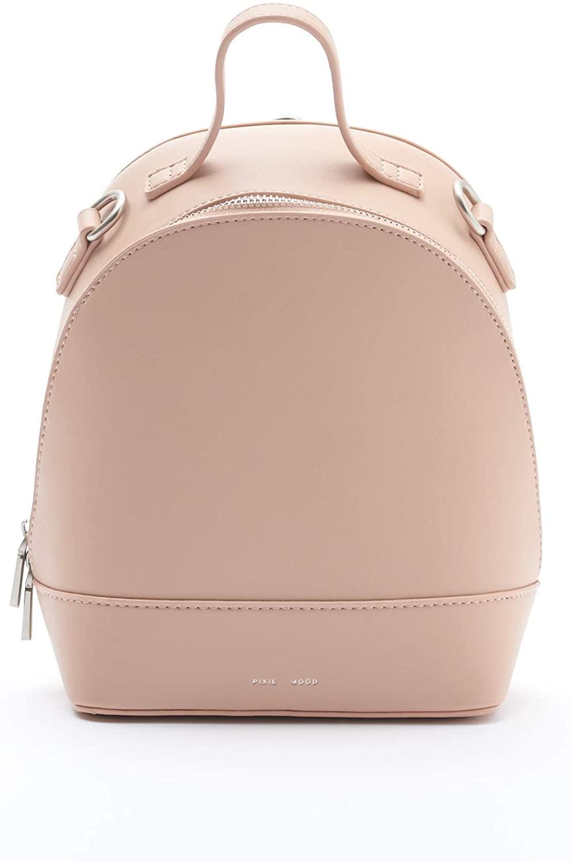 Cora Small Stylish Tan 9 x 7 Vegan Leather Basic Multipurpose Backpack