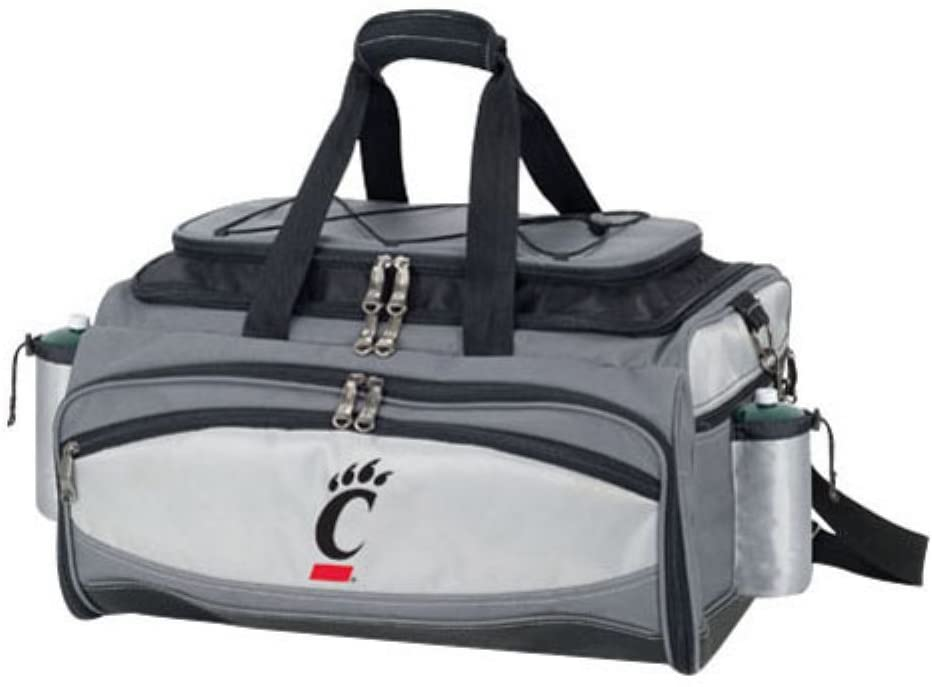ONIVA - a Picnic Time brand Cincinnati Bearcats - Vulcan Portable Propane Grill & Cooler Tote, (Black with Gray Accents)