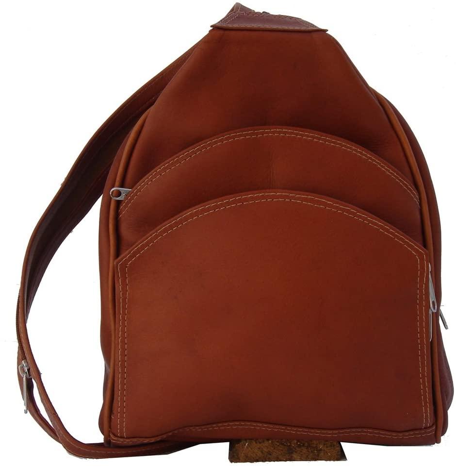 Piel Leather Backpack Sling, Saddle, One Size