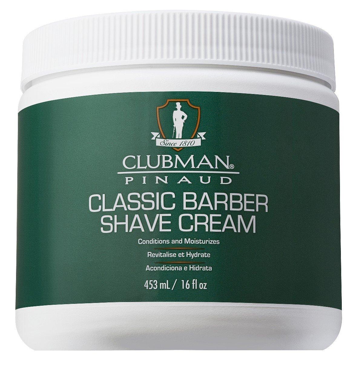 Clubman Shave Cream 16 Ounce Jar (473ml) (2 Pack)